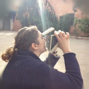 Marion au Polaroid